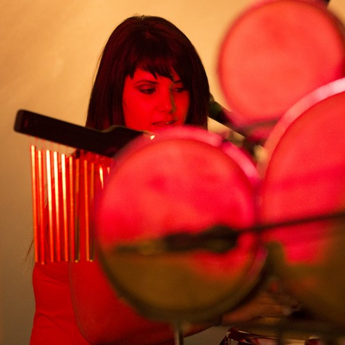 « Mary » Concert of the Cuban Electro percussionist Mary Paz at the UNESCO Paris head office, 2014